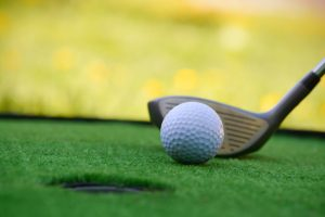 Golf field hole
